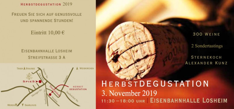 Herbstdegustation 2019 in Losheim - SPIES
